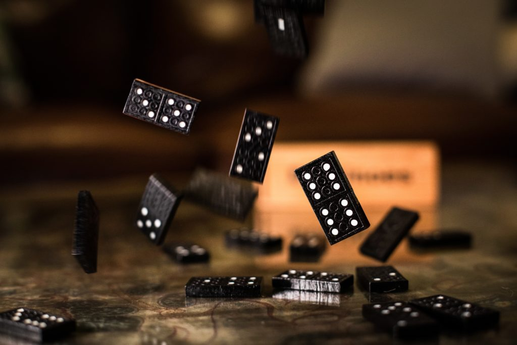 With qi stagnation, one thing can lead to another, just as dominoes knock each other down.